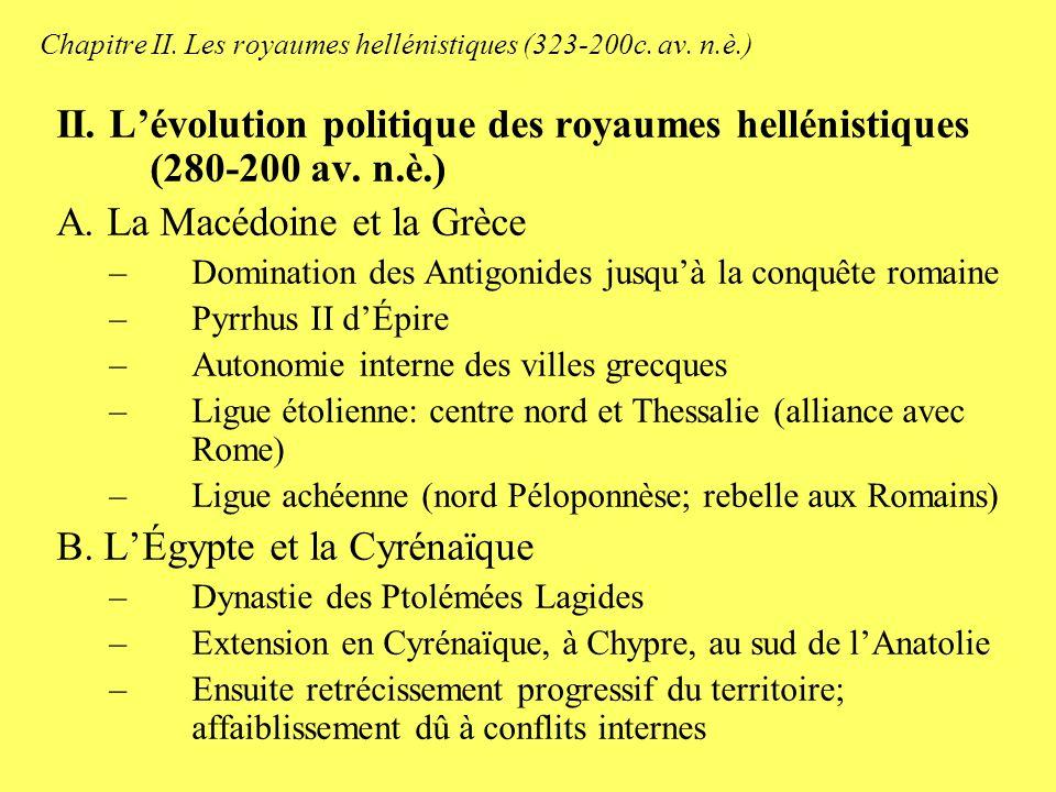 Chapitre II.Les royaumes hellénistiques (323-200c.