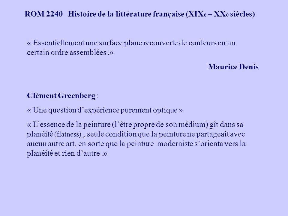 ROM 2240 Histoire de la littérature française (XIX e – XX e siècles) Claude Monet, Impression, soleil levant