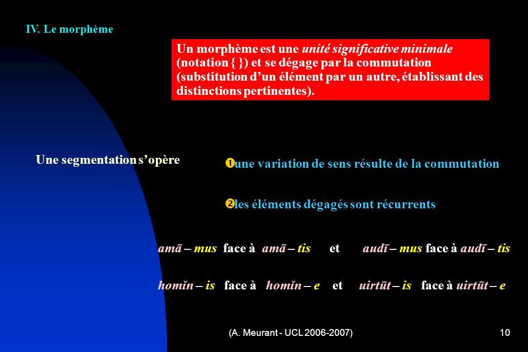 (A.Meurant - UCL 2006-2007)10 IV.