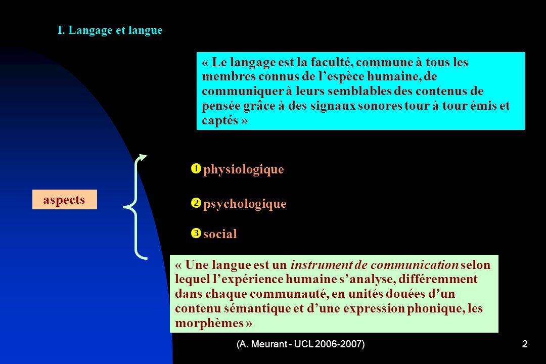(A.Meurant - UCL 2006-2007)2 I.