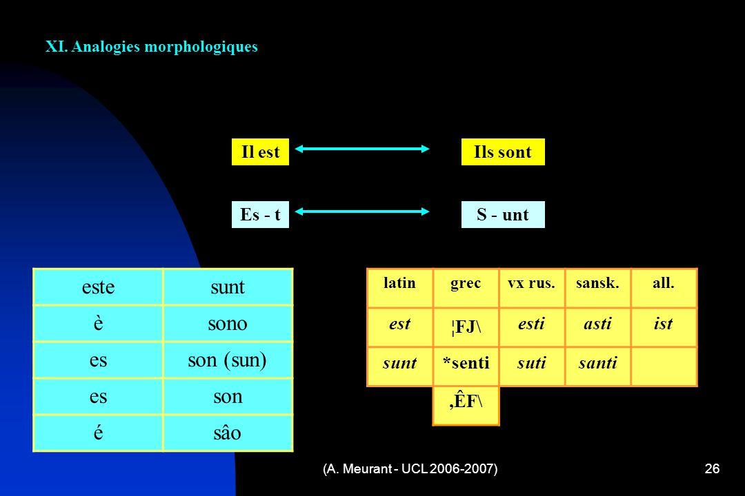 (A.Meurant - UCL 2006-2007)26 XI.