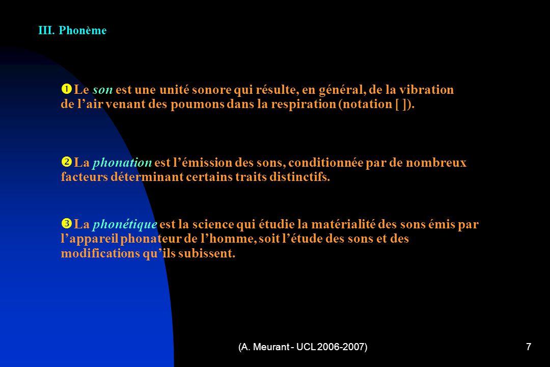 (A.Meurant - UCL 2006-2007)7 III.