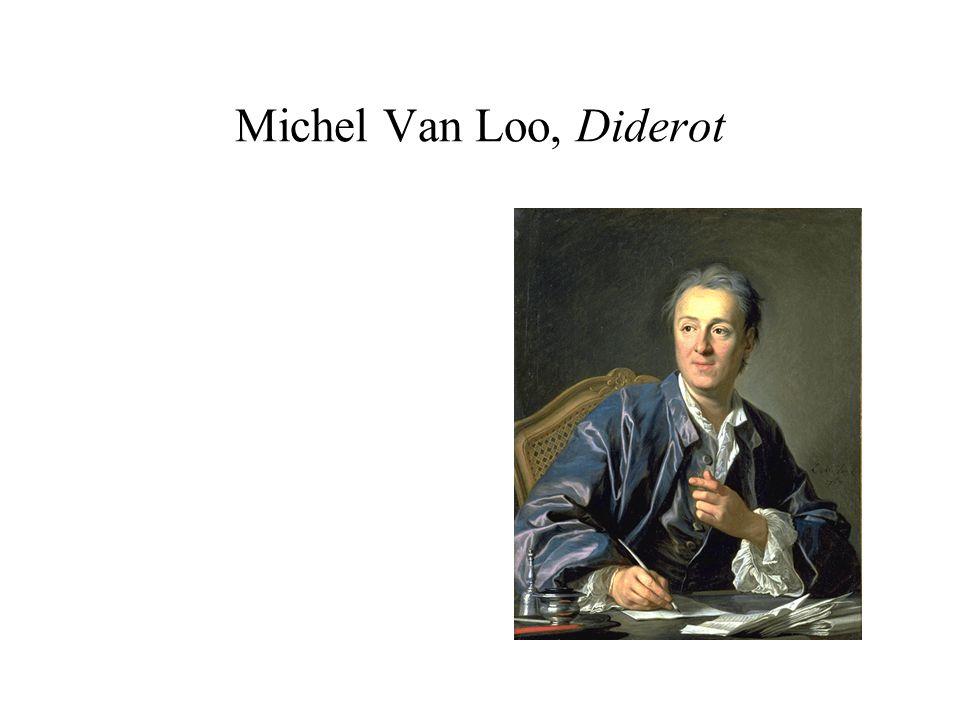 Diderot, Salon de 1767 On le voit de face ; il a la tête nue ; son toupet gris, avec sa mignardise, lui donne lair dune vieille coquette qui fait encore laimable ; la position dun secrétaire dÉtat et non dun philosophe.