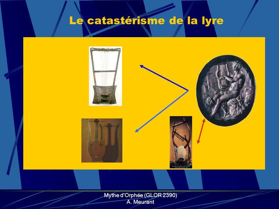 Mythe d Orphée (GLOR 2390) A. Meurant Le catastérisme de la lyre