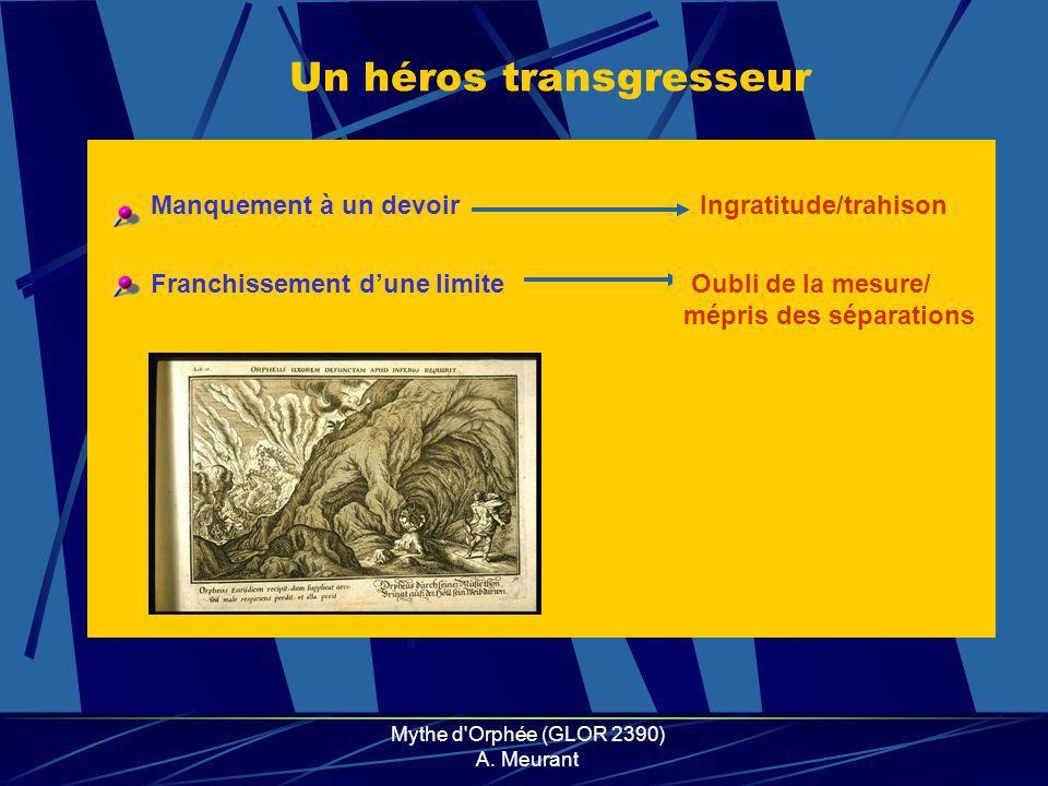 Mythe d Orphée (GLOR 2390) A. Meurant Une figure foudroyée Lycaon Romulus Zeus