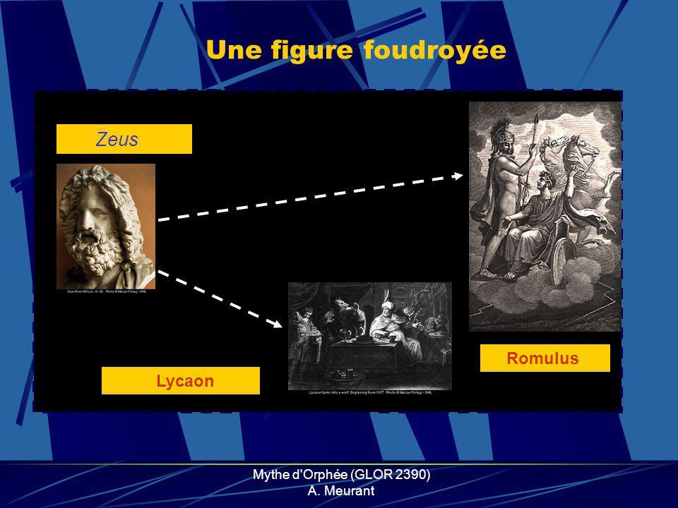 Mythe d Orphée (GLOR 2390) A. Meurant Une mort par les femmes Dionysos Orphée Agamemnon Penthée