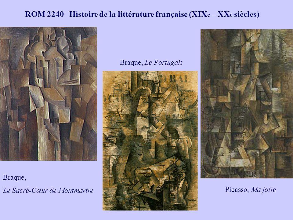 Braque, Le Sacré-Cœur de Montmartre Picasso, Ma jolie Braque, Le Portugais