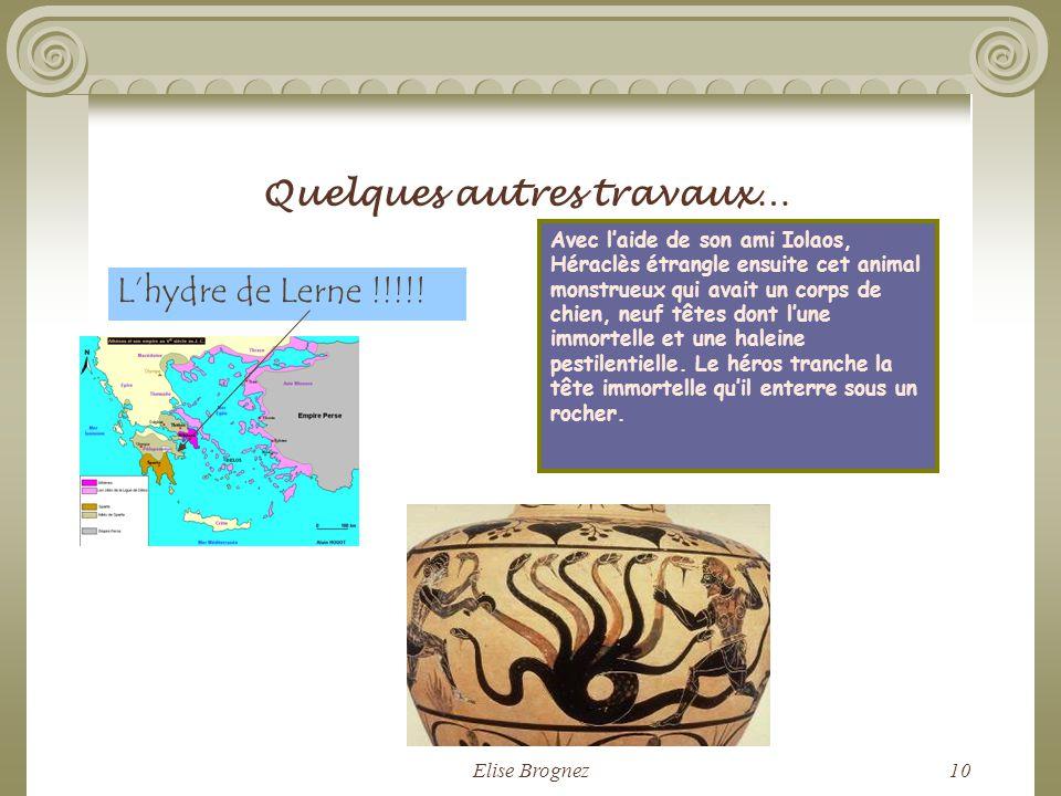 Elise Brognez9 Le lion de Némée dans la poésie française Depuis que le Dompteur entra dans la forêt En suivant sur le sol la formidable empreinte, Seu