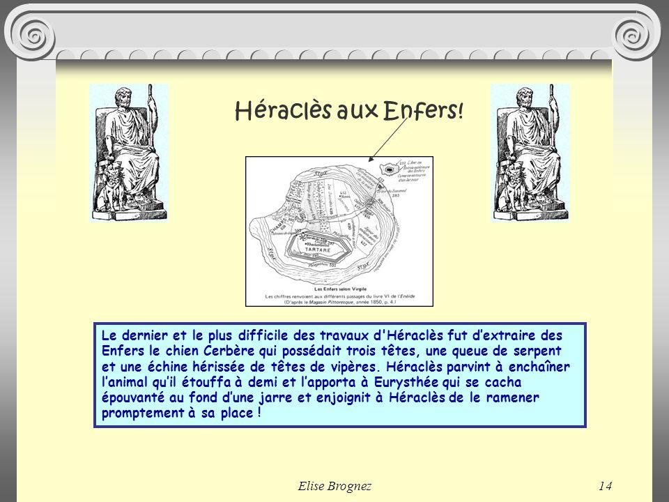 Elise Brognez13 Héra, qui avait reçu ces pommes en cadeau de mariage les faisait garder par des Nymphes et un dragon dans un jardin magnifique, où seu
