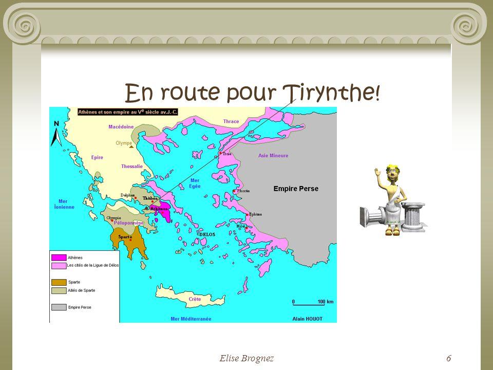 Elise Brognez5 Les préductions de la Pythie! « Pour expier ton crime, Héraclès, tu devras résider à Tirynthe. Tu te mettras au service dEurysthée pend