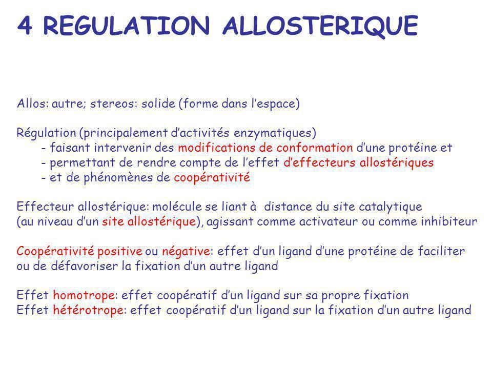 Allos: autre; stereos: solide (forme dans lespace) Régulation (principalement dactivités enzymatiques) - faisant intervenir des modifications de confo