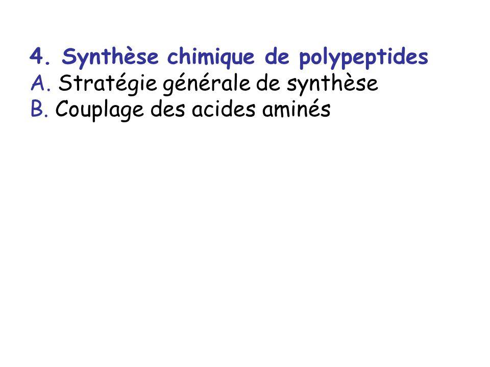 4.Synthèse chimique de polypeptides A.