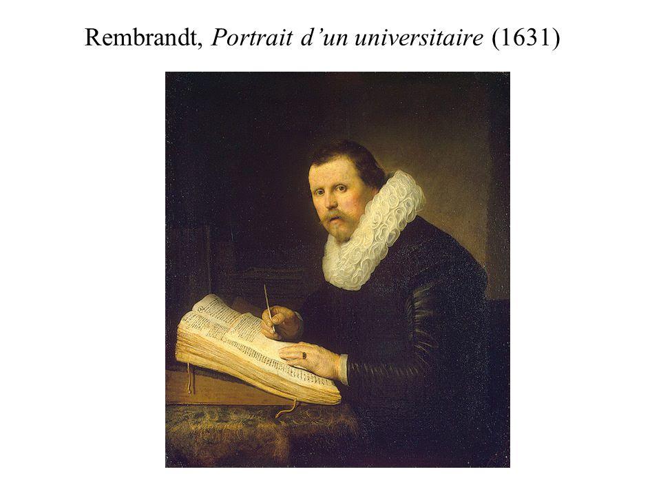 Rembrandt, Portrait dun universitaire (1631)