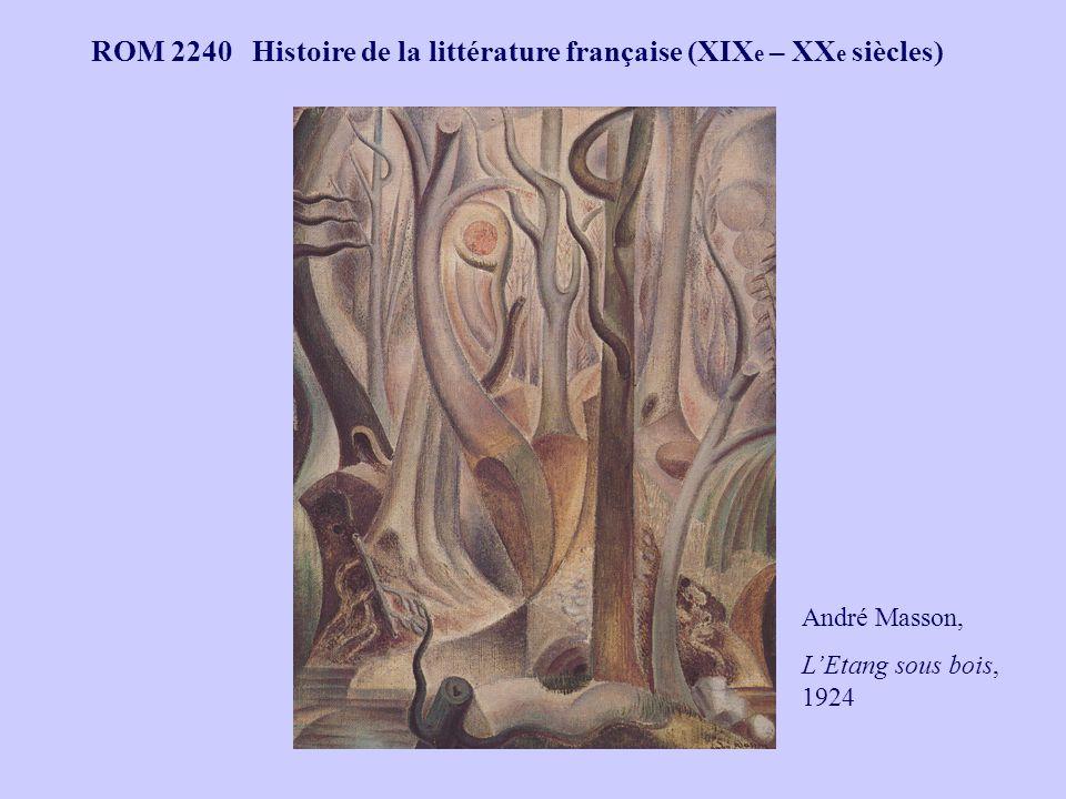 ROM 2240 Histoire de la littérature française (XIX e – XX e siècles) André Masson, LEtang sous bois, 1924