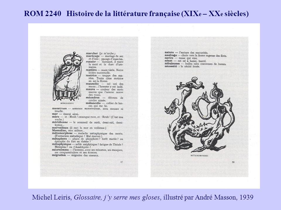 ROM 2240 Histoire de la littérature française (XIX e – XX e siècles) Marcel Jouhandeau, Ximenez Malonjoude, illustré par André Masson, 1927 LHomme mort, 1926