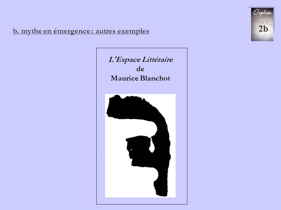 2b b. mythe en émergence : autres exemples L'Espace Littéraire de Maurice Blanchot