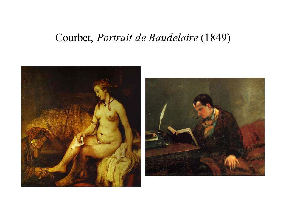 Courbet, Portrait de Baudelaire (1849)