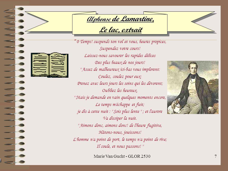 Marie Van Gucht - GLOR 25307 Alphonse de Lamartine Alphonse de Lamartine, Le lac, extrait 0 Temps.