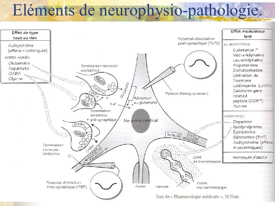 Eléments de neurophysio-pathologie. Issu de « Pharmacologie médicale », M.Neal.