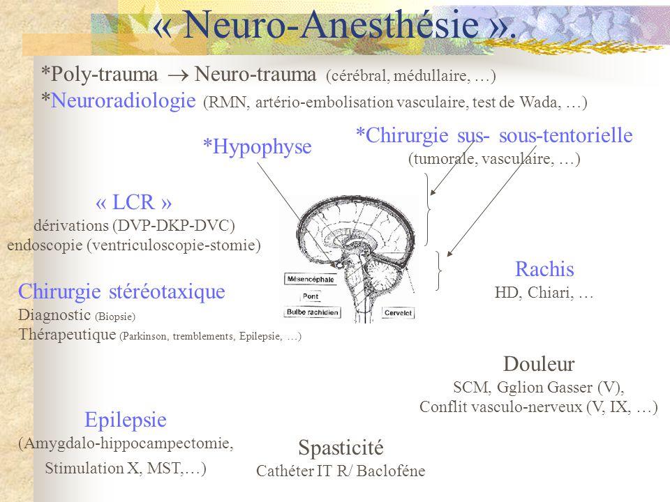 « Neuro-Anesthésie ».