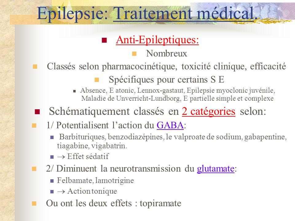 Epilepsie: Traitement médical.