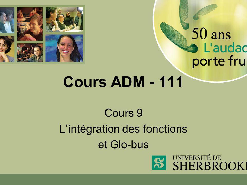 Cours ADM - 111 Cours 9 Lintégration des fonctions et Glo-bus