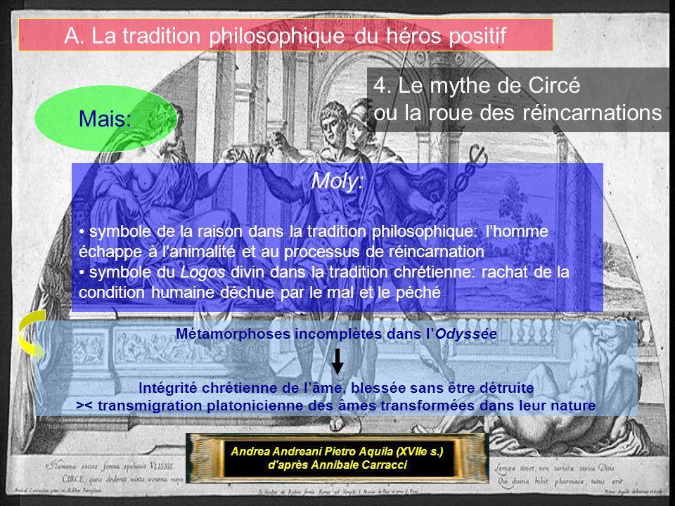 A. La tradition philosophique du héros positif Andrea Andreani Pietro Aquila (XVIIe s.) daprès Annibale Carracci Moly: symbole de la raison dans la tr