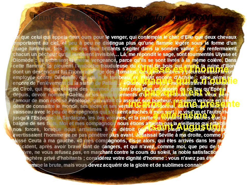 Dante - La Divine Comédie - Enfer, chant XXVI Tel que celui qui appela deux ours pour le venger, qui contempla le char d'Elie que deux chevaux emporta