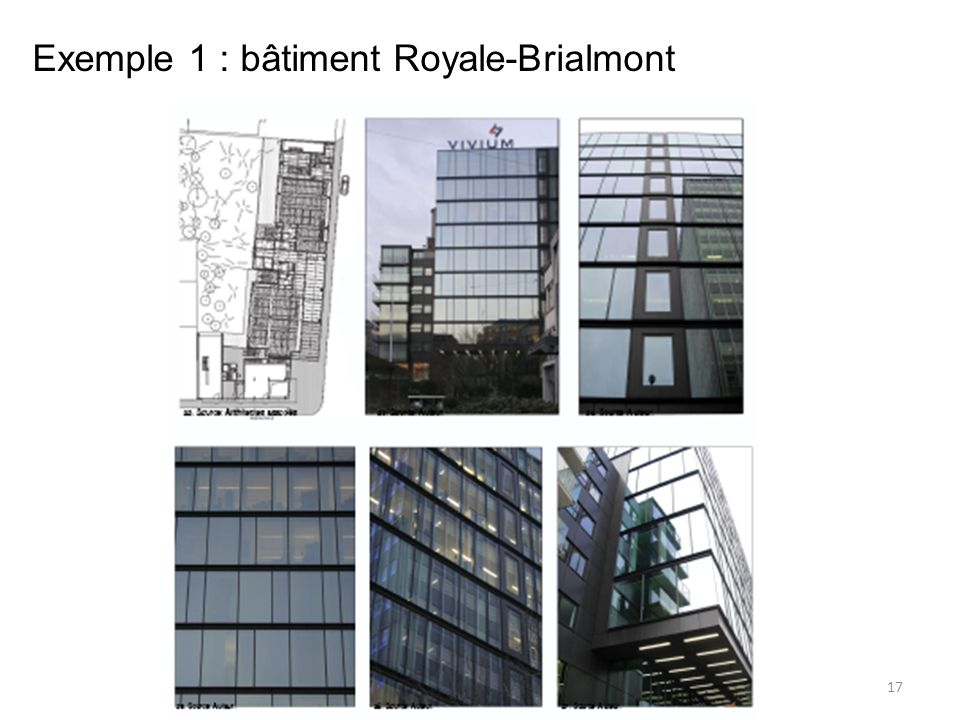 17 Exemple 1 : bâtiment Royale-Brialmont