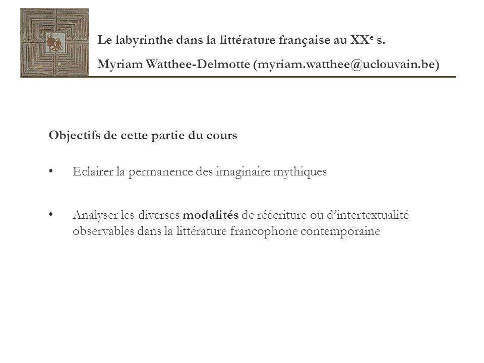 Outils bibliographiques Pour prendre connaissance de la fortune littéraire dun mythe : Brunel Pierre (dir.), Dictionnaire des mythes littéraires, Monaco, Le Rocher, 1988.