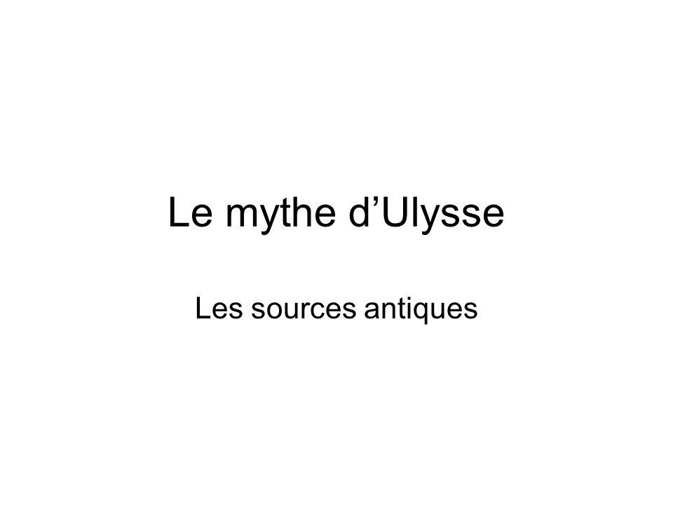 Le mythe dUlysse Les sources antiques