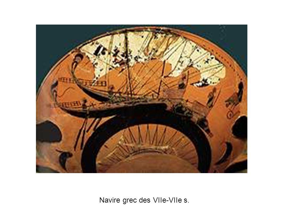 Navire grec des VIIe-VIIe s.