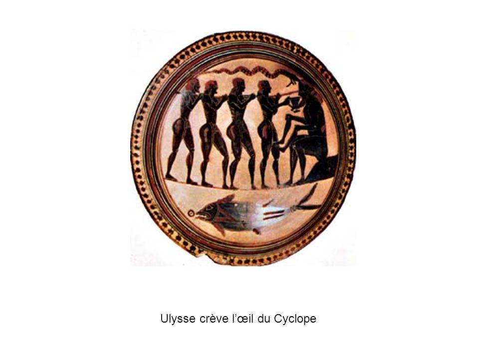 Ulysse crève lœil du Cyclope