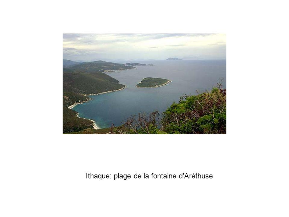 Ithaque: plage de la fontaine dAréthuse