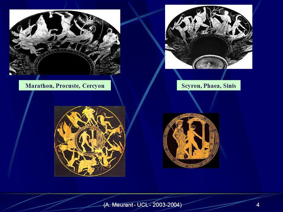 (A. Meurant - UCL - 2003-2004)4 Marathon, Procuste, CercyonScyron, Phaea, Sinis
