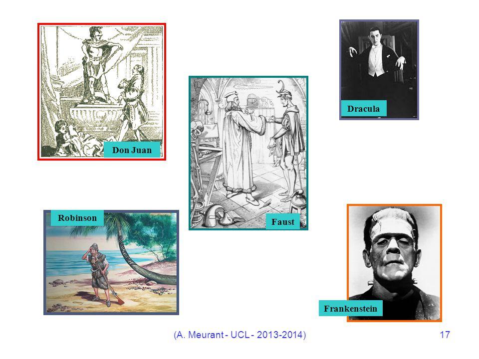(A. Meurant - UCL - 2013-2014)17 Don Juan Frankenstein Dracula body {font-family:Verdana;} Faust Robinson