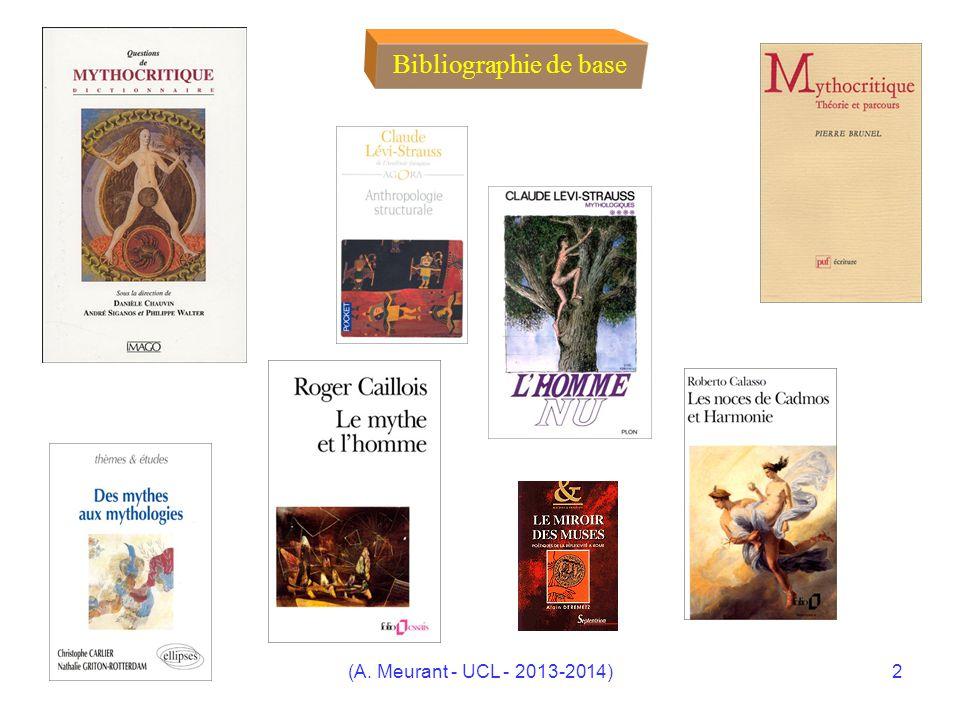 (A. Meurant - UCL - 2013-2014)2 Bibliographie de base