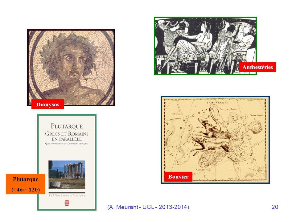 (A. Meurant - UCL - 2013-2014)20 Dionysos Anthestéries Bouvier Plutarque (+46/+ 120)