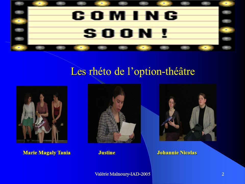 Valérie Malnoury-IAD-20051 Loption humanités théâtre Les cours éloquence déclamation Art dramatique Expression corporelle orthophonie Atelier créatif