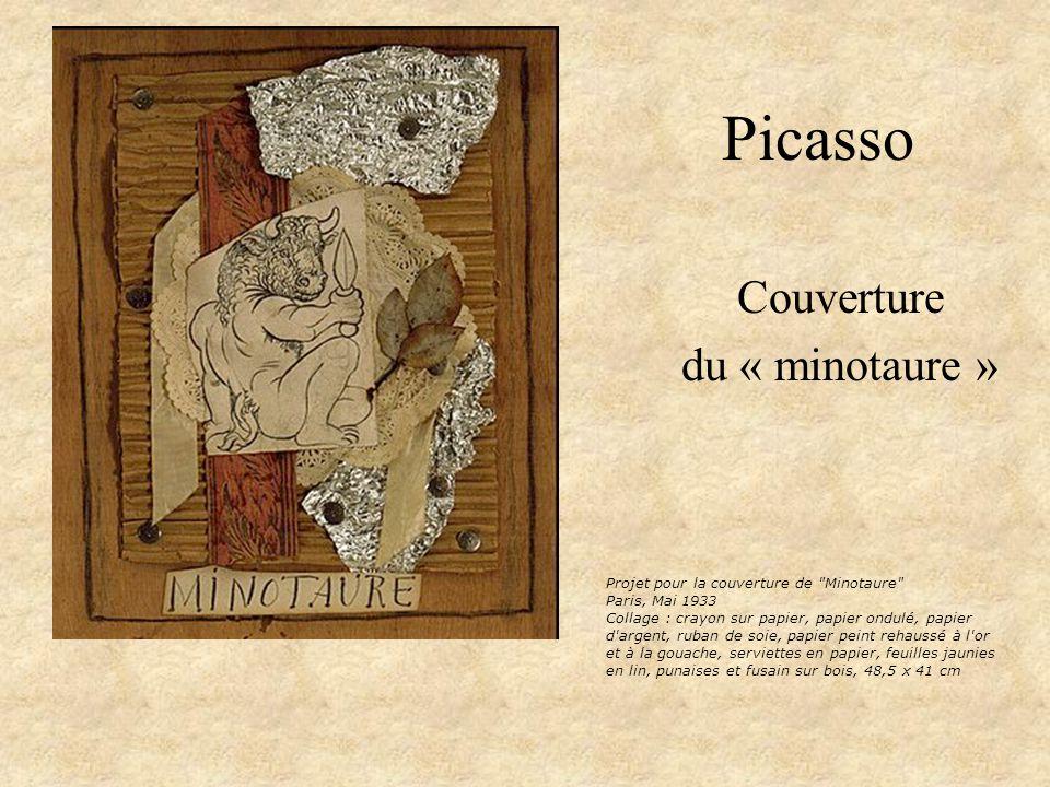 Picasso Couverture du « minotaure » Projet pour la couverture de