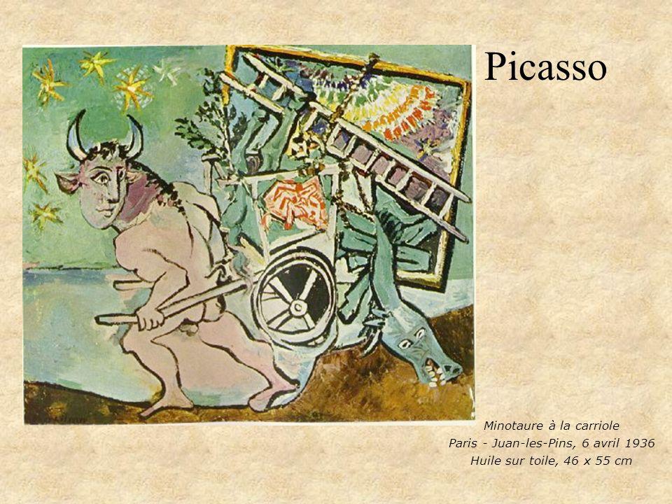 Picasso Minotaure à la carriole Paris - Juan-les-Pins, 6 avril 1936 Huile sur toile, 46 x 55 cm