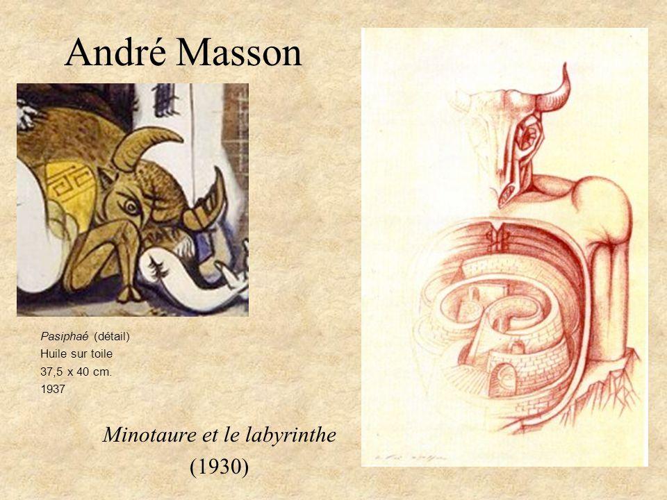 André Masson Minotaure et le labyrinthe (1930) Pasiphaé (détail) Huile sur toile 37,5 x 40 cm. 1937