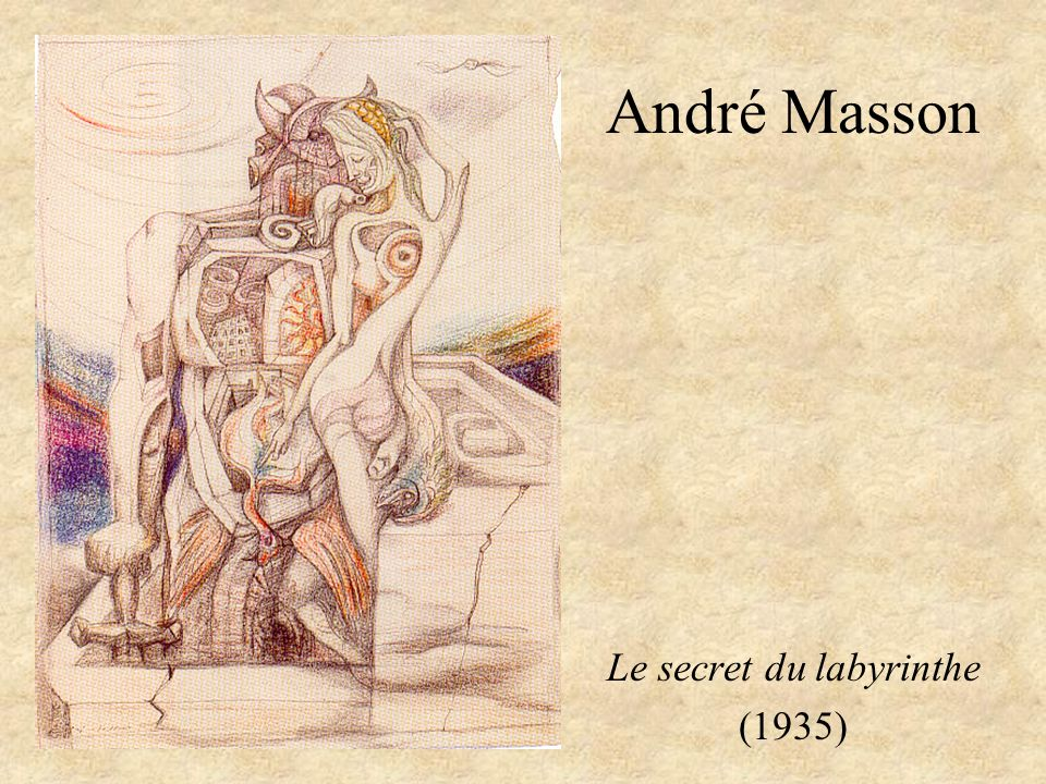 André Masson Le secret du labyrinthe (1935)
