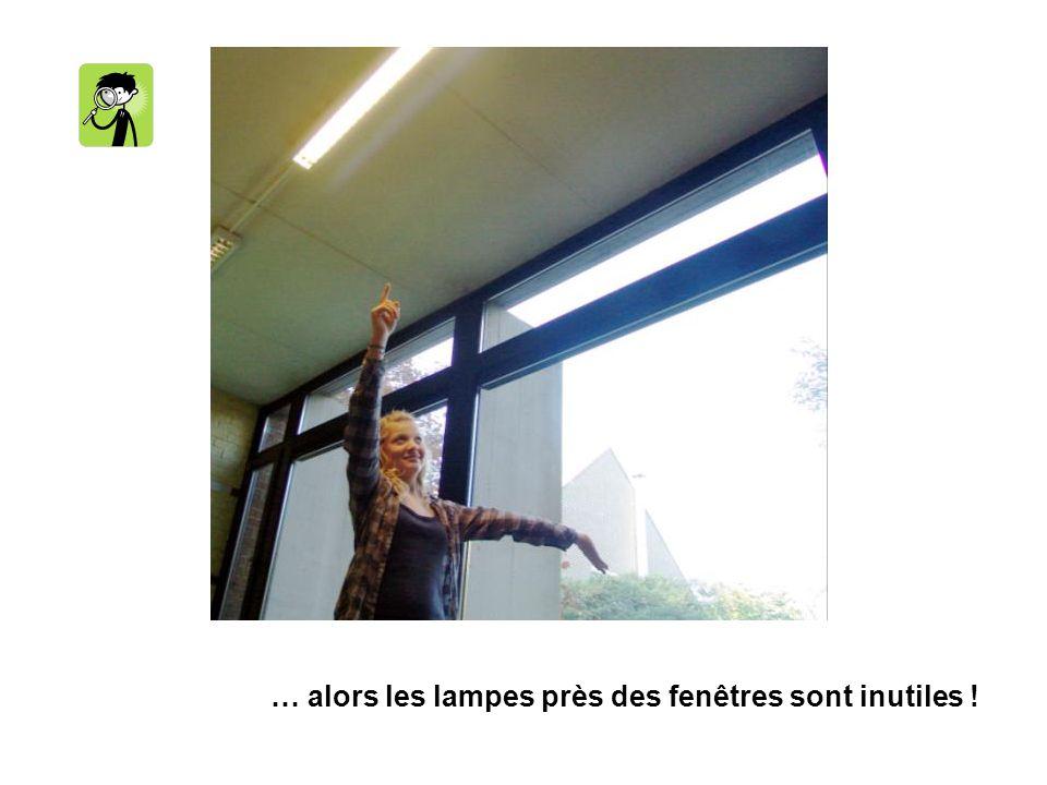 … alors les lampes près des fenêtres sont inutiles !