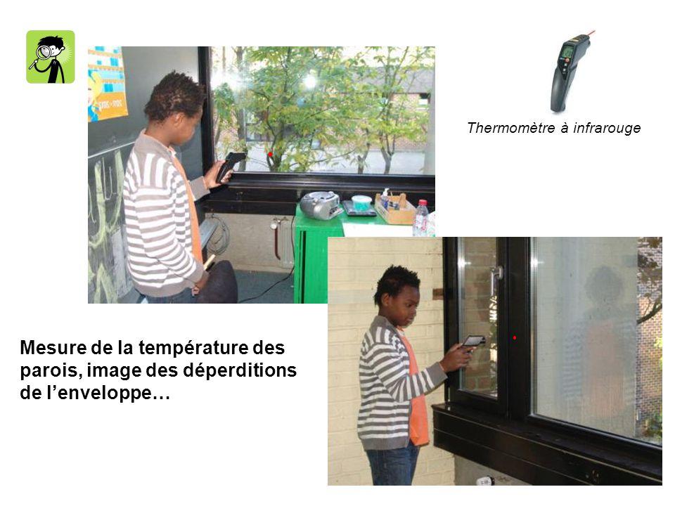 Mesure de la température des parois, image des déperditions de lenveloppe… Thermomètre à infrarouge