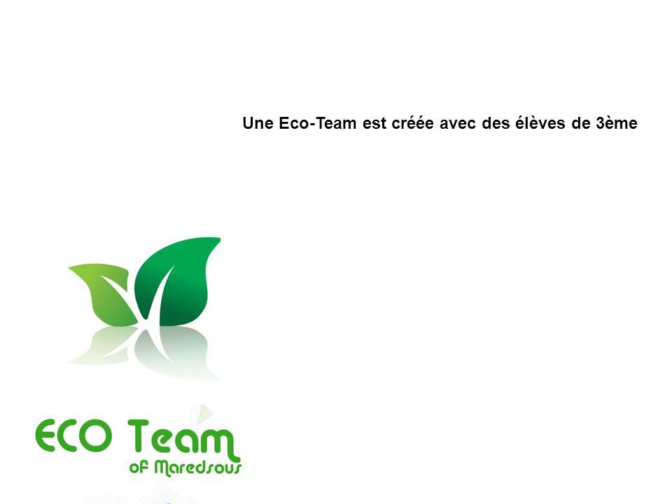 Une Eco-Team est créée avec des élèves de 3ème