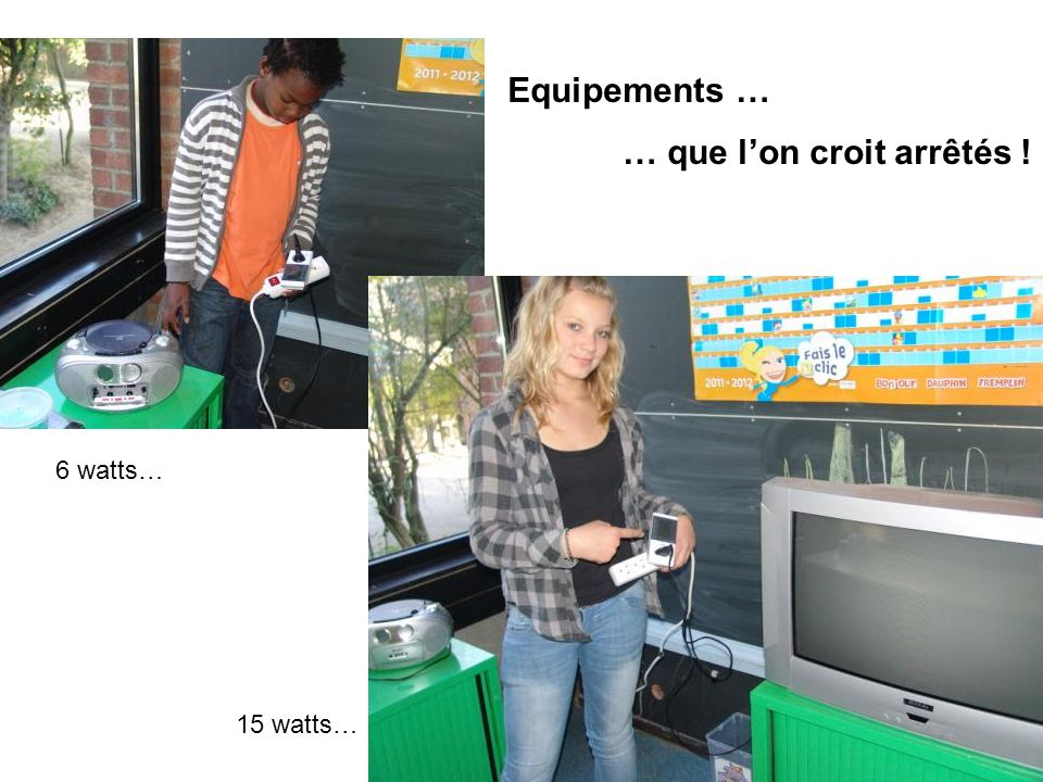 6 watts… 15 watts… Equipements … … que lon croit arrêtés !