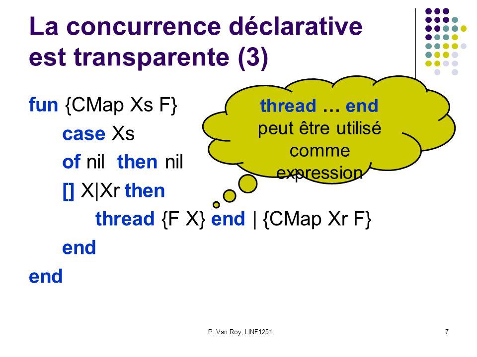 P. Van Roy, LINF1251 28 Les paradigmes de programmation