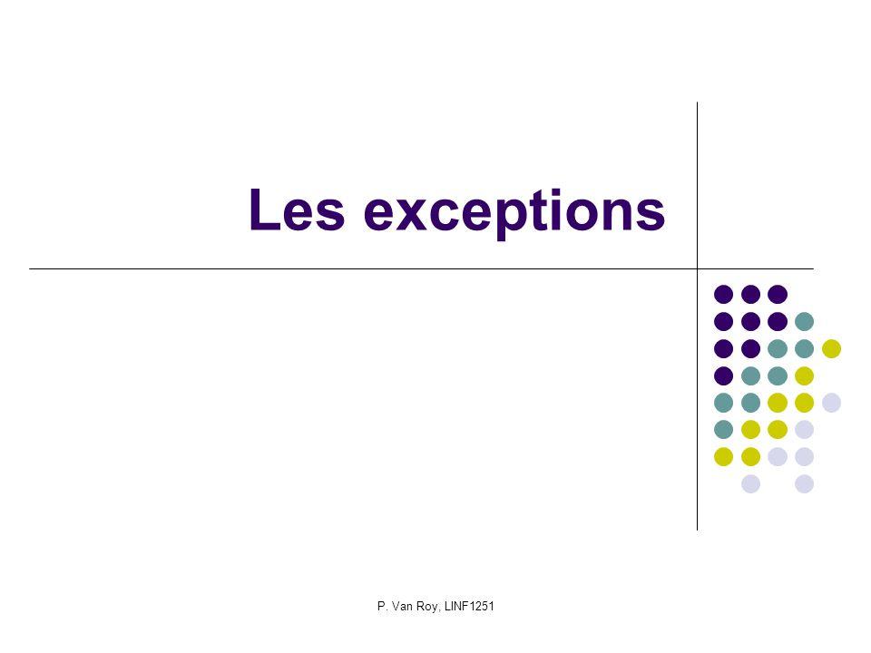 P. Van Roy, LINF1251 Les exceptions