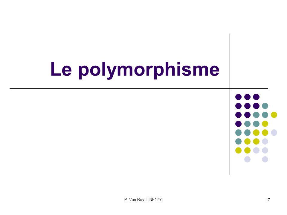 P. Van Roy, LINF1251 17 Le polymorphisme